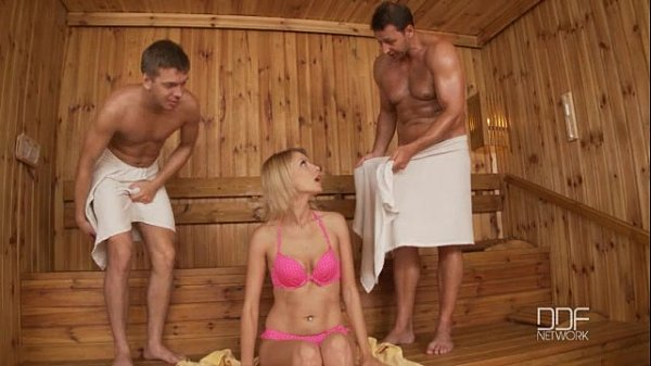 Young girl Melissa May gets seduced and fucked by a BBC in the sauna  754922